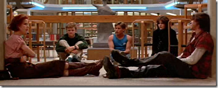 the breakfast club scene
