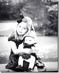 Taylor and Ella BW