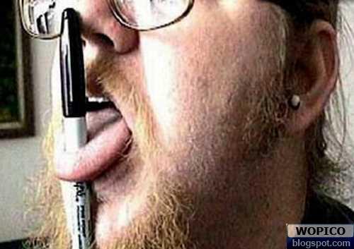 Pen in Tounge