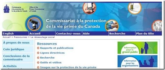 Image - Commissariat à la protection de la vie privée du Canada