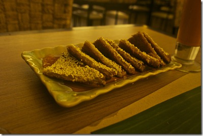 Prawn Toast with Sesame Seeds
