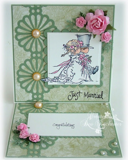 lotvweddingcoupleeaselc Yes I went with another easel card