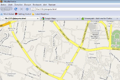 Capture Maps from Google Maps Using Firefox Browser