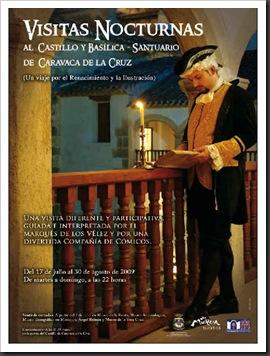 Cartel visita nocturna castillo de Caravaca 2009