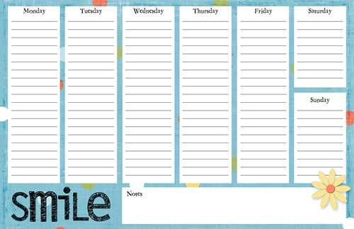 Weekly To Do List Template. New To Commandcenter On Etsy: Half