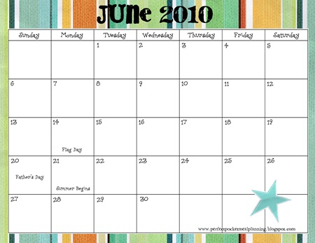 June1  Calendar 2010