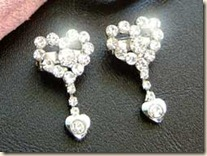 crystal heart bra clips