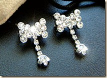 crystal bra strap bow clips