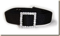 black bra strap with crystal squares