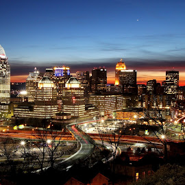 Mars at sunset (with Cincinnati thrown in) by David Stephens - City,  Street & Park  Skylines