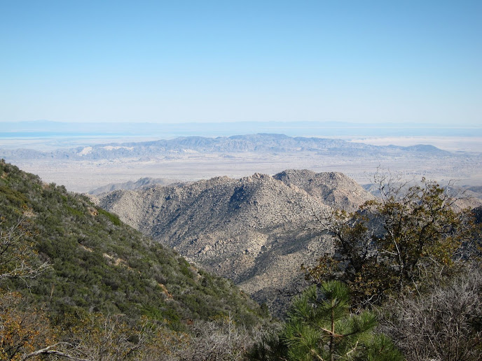 View of the Anza Borrego Desert from high atop Mount Laguna