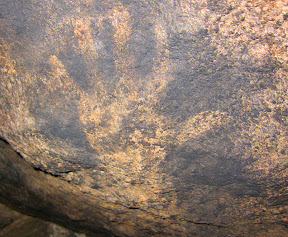 Hand Pictographs at Piedras Grandes - Anza Borrego