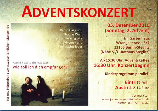 Adventskonzert in Berlin Steglitz
