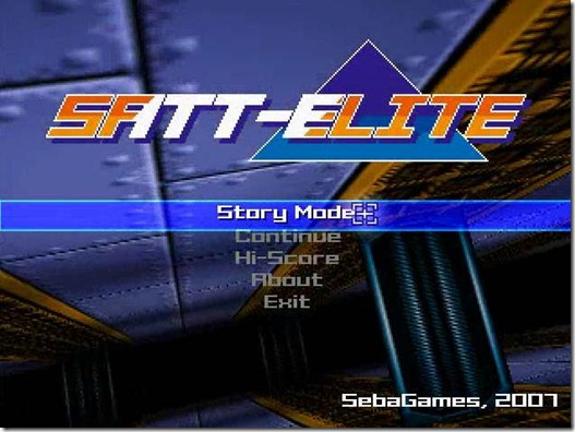 Satt-Elite freeware game (2)