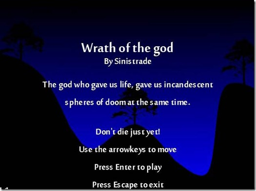 The Wrath Of the God freeware game pic (3)