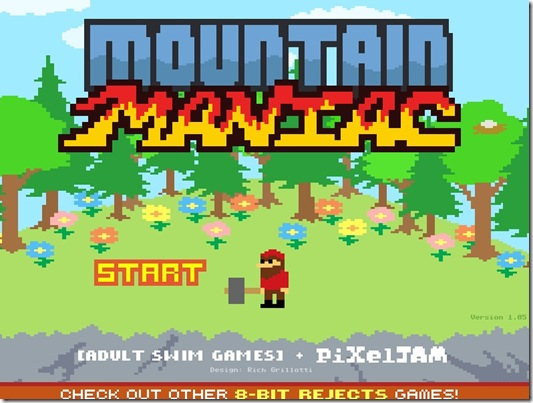 Mountain Maniac 8 bit- free web game_