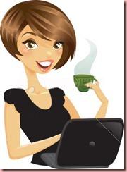 ladyatcomputerwithcoffee