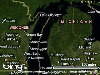 Michigan aerial map