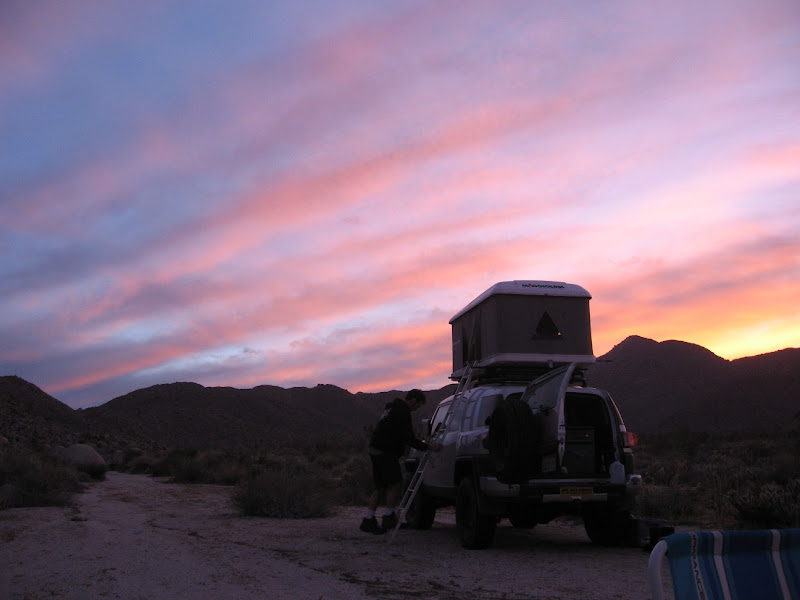 Desert sunset in Indian Valley - Anza Borrego