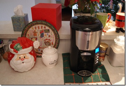 Coffee Station & Santa Cookie Jar