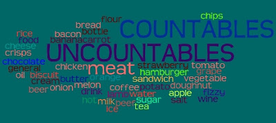 Chiew's CLIL EFL ESL Blog: Countables Uncountables Food Nouns