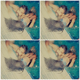 We swim with respect by Desty Ayomi - Sports & Fitness Swimming ( friends, swag, pool, friendship, mustache, hair, swimming )