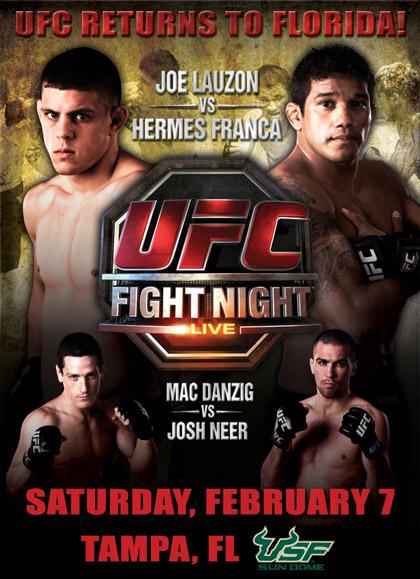 """UFC Fight Night 17 """"Franca vs Lauzon"""""""