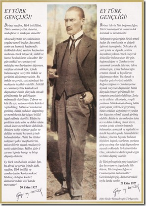 Ataturk-un Genclige Hitabesi