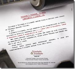 Anúncio Trindade & Trindade Homenagem O Liberal