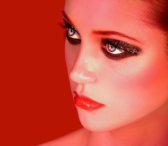 Model with beautiful Makeup