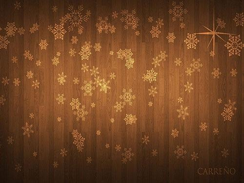 Brown Decorative Winter Background