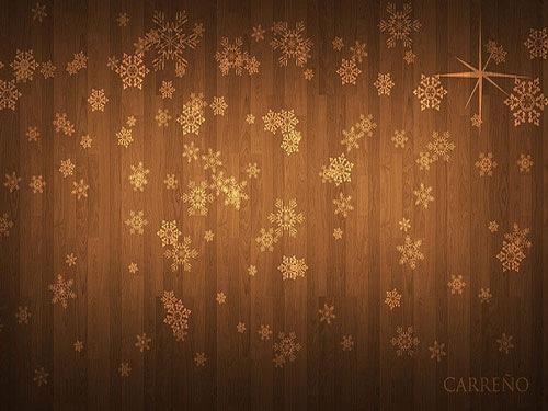 Brown Decorative Winter Background