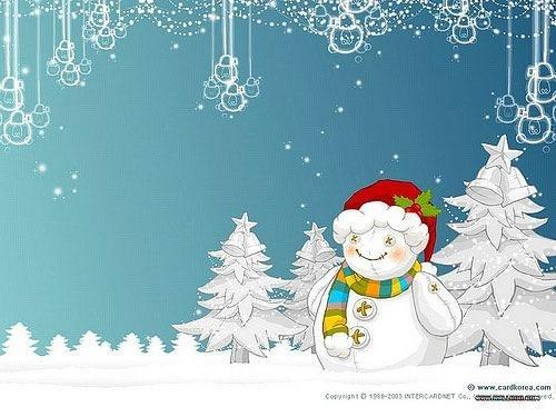 Snow White Christmas Desktop Wallpaper