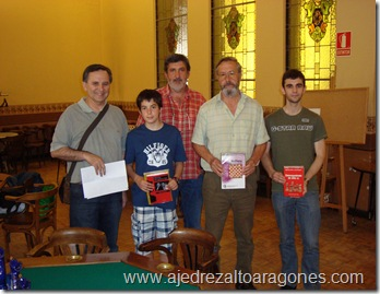 De izquierda a derecha, Roberto Cifuentes, Jorge Mancho, Juan Carlos González, Jesús Lasierra y Antonio Abós.