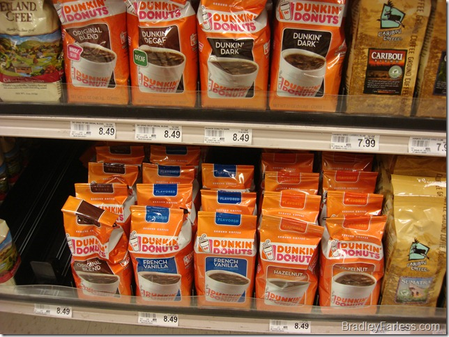 Dunkin Donuts ground coffee.