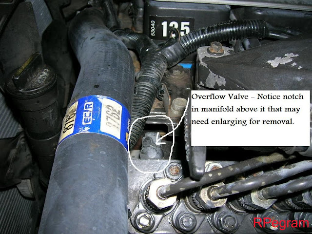 Overflow Valve on Bosch Diesel Fuel Filter