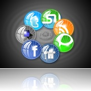 Circular Style Social Media Icons