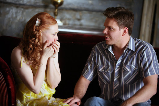 Jim Parrack is the lovely Hoyt Fortenberry and the gorgeous Deborah Ann Woll is Jessica Hamby