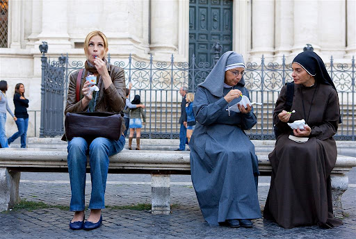 Julia Roberts is Liz Gilbert in Eat Pray Love
