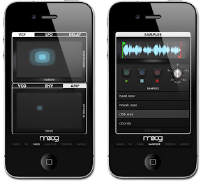 Moog Filtatron iPhone app screenshot