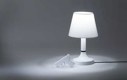 lamp fun wacky interactive white design