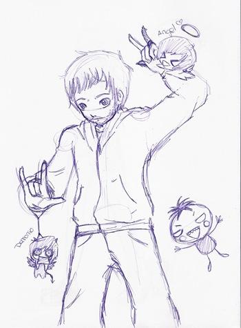 Dibujo de Álvaro, por Laura S.Q.