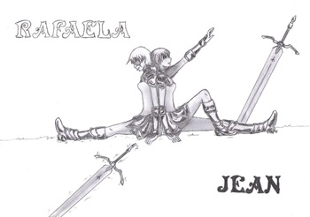 Jean and Rafaela, Fan Art de Claymore por Shinra