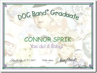 Connor's DOC Band Graduation Certificate  04.26.10