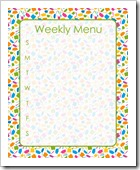 Weekly Menu - GREEN - Sprik Space