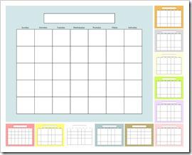 IMAGE - Blank Calendar - SOLIDS