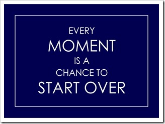 Just Because - Every moment is a chance to start over - navy blue - Sprik Space