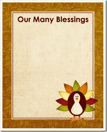 Our Many Blessings - Sprik Space