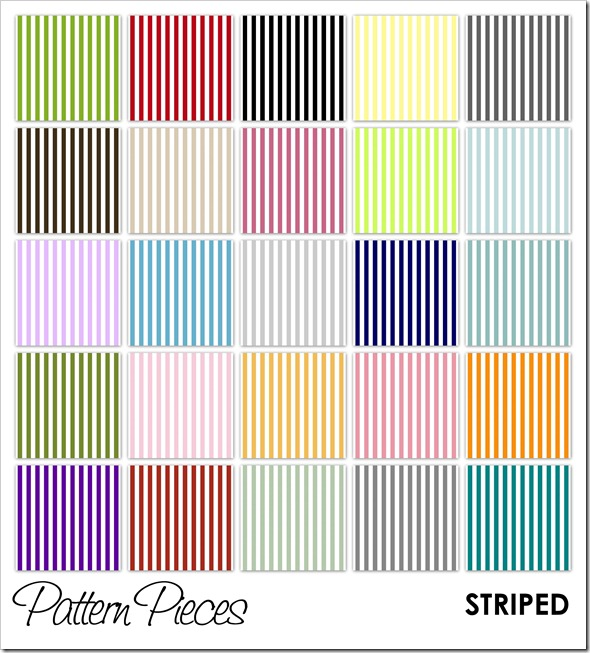 IMAGE - Pattern Pieces - Striped
