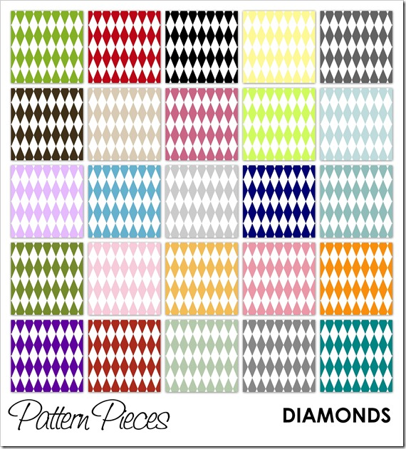 IMAGE - Pattern Pieces - Diamonds